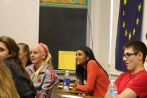 DuPont Manual students are intrigued by the Jewish culture Shpilberg is sharing with them. Photo By: Alexis Weaver