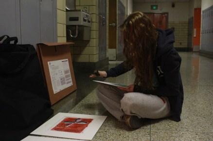 Eldina Preljevic's (12) erased around the border to get rid of any marks.