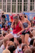 Students came decked-out in anything red, white or blue.