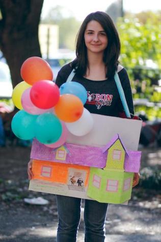 "Sarah Ulanoski (11) represents the movie ""Up."" Photo by Alexa Pence"