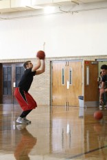 Simon Clifford (12) shoots to warm up his arms making almost every single shot.