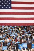 President Barack Obama speaks at a rally at the University of Cincinnati on Sunday November 4, 2012. Photo by Yazmin Martinez.