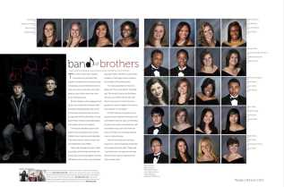 One of the senior portrait pages, featuring the band Price and Bryce.
