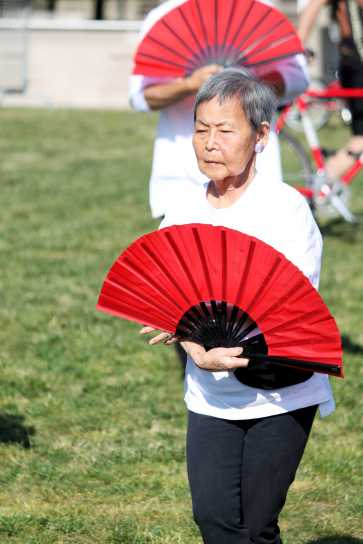 Tai Chi demonstration included different forms of Tai Chi.