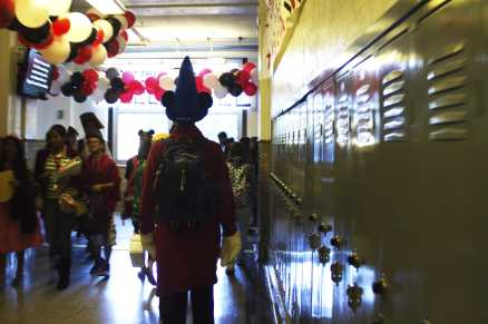 The one who started it all, Mickey Mouse, is seen walking through the decorated hallways. Photo by Olivia Cook
