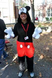 Matthew CoSarino (11, MST) dressed as Mickey Mouse walks around lunch waving and shaking his friends hands, like the original Mickey himself. Photo by Olivia Cook