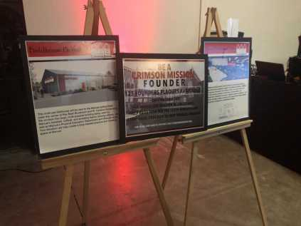 The Crimson Mission had a display with their most recent accomplishments, the MAC project and the field house project. Photo by Reece Gunther.