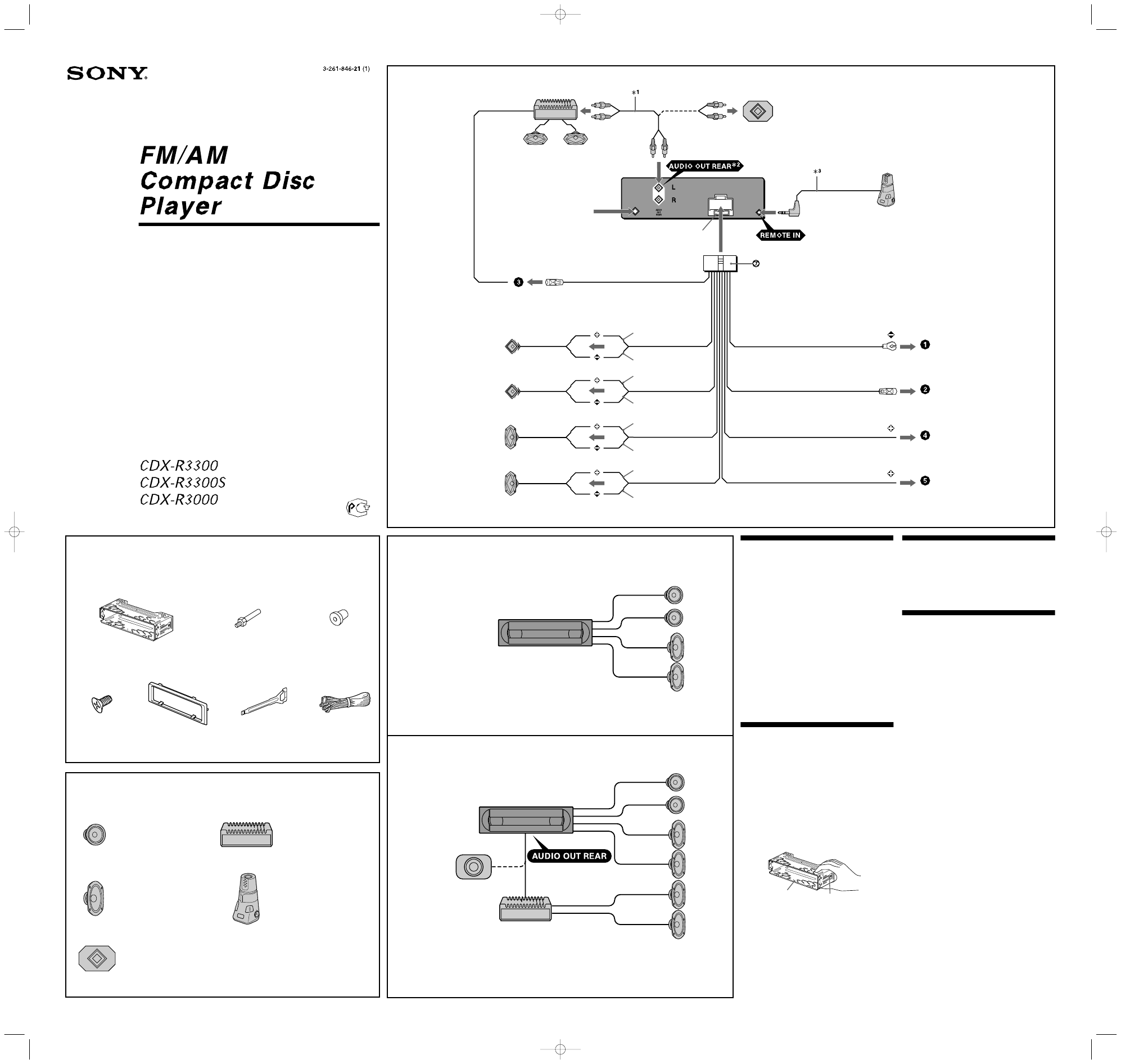 Sony Cdx R3000 Car Radio Wiring Diagram