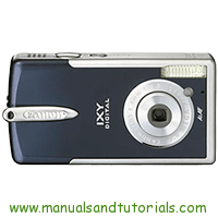 Canon Digital IXUS i5 Manual And User Guide PDF
