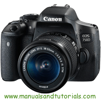 Canon EOS 750D Manual And User Guide PDF