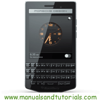 BlackBerry Porsche Design P9983 Manual And User Guide PDF