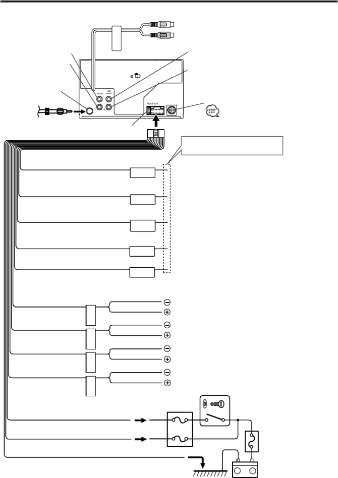 kenwood dpxmp4070 connecting wires to terminals