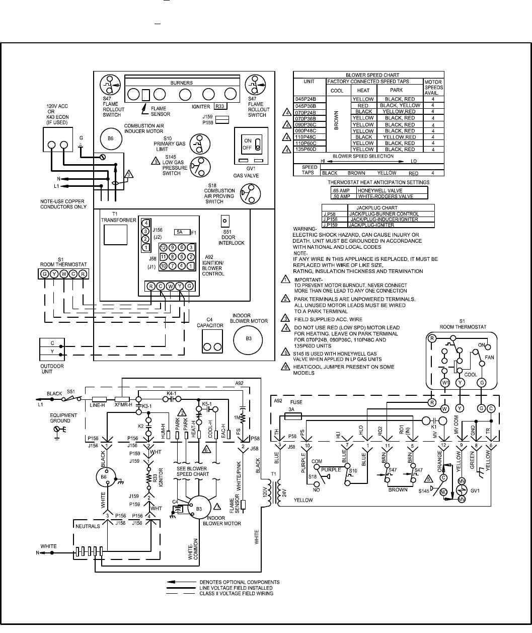 34 Upflow Furnace Diagram