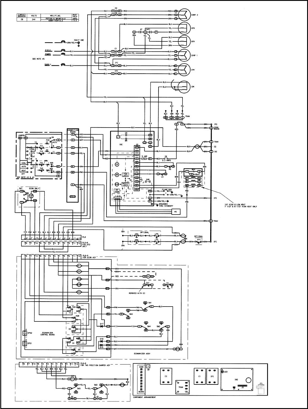 Bryant 580d Typical Wiring Schematic 580d036 150