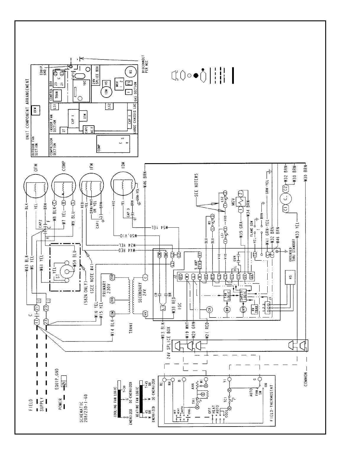 Bryant 582a Typical Wiring Schematic 582a018 060 208 230