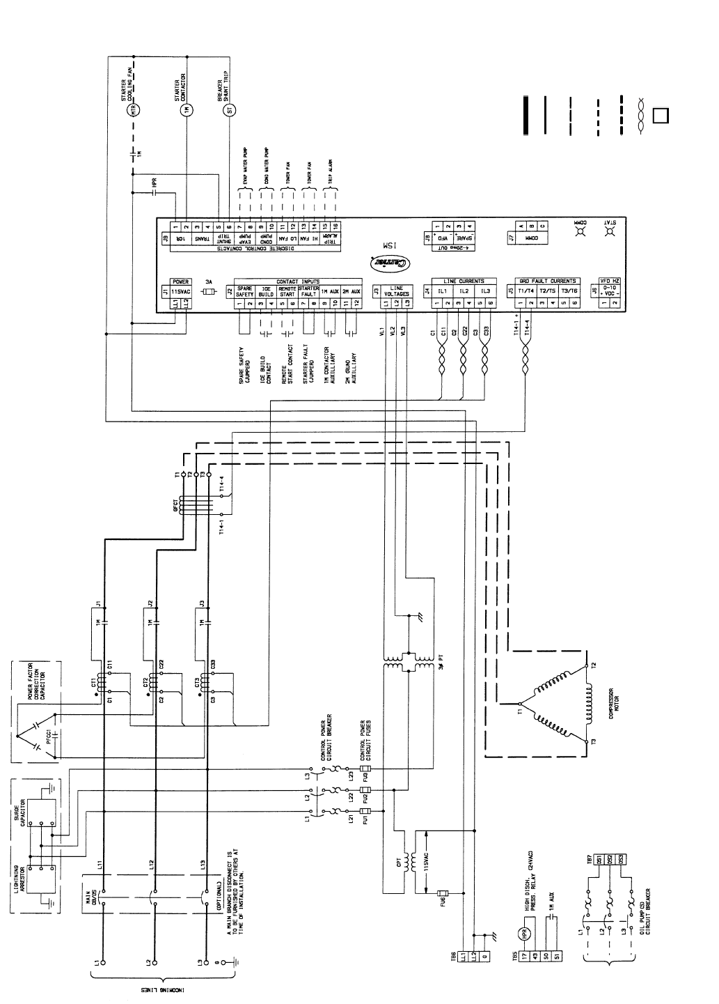 Carrier 19xr Xrv Fig 54 Typical Across The Line Starter