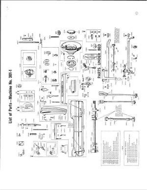 Singer 301  301A Sewing Machine Service Manual