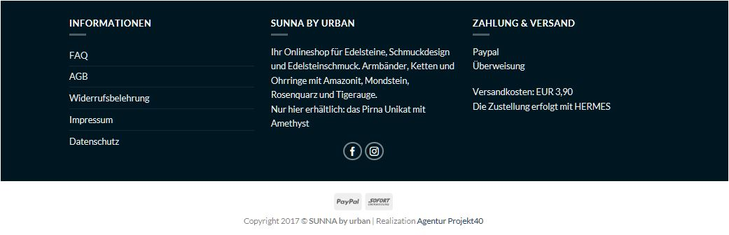 Footer Sunna by Urban