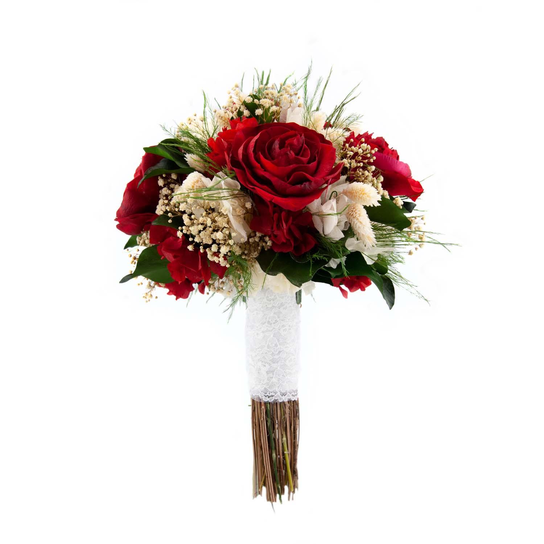 bouquet de peonias rojas