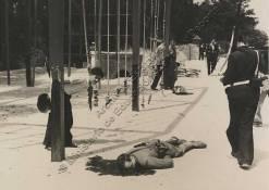 Cuartel de la Montaña- Fascista, vestido de militar muerto en la lucha