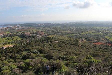 Punta Amer y la zona ocupada por los republicanos vista desde Na Penyal