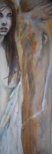 tableau long ange femme robe blanche