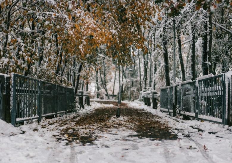 Schnee im Herbst