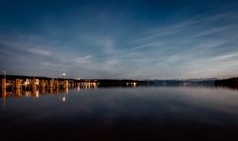 Langzeitbelichtung Starnberger See bei Dämmerung