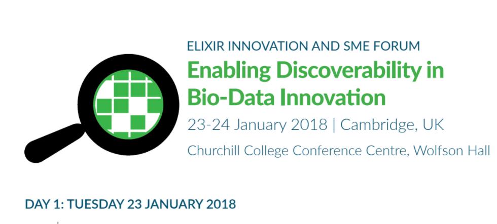 ELIXIR Innovation and SME forum