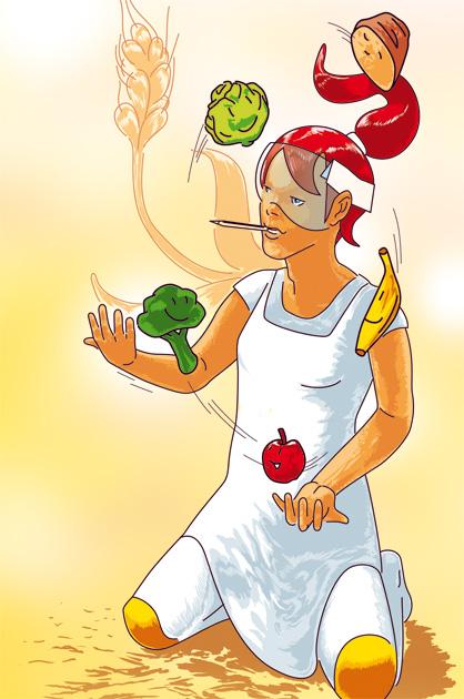 Illustration zum Thema Ernährung