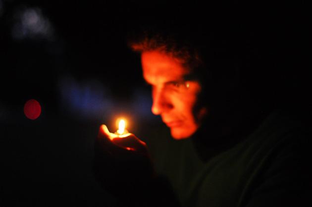 Portrait-Fotografie Nachtaufnahmen auf dem Gurten
