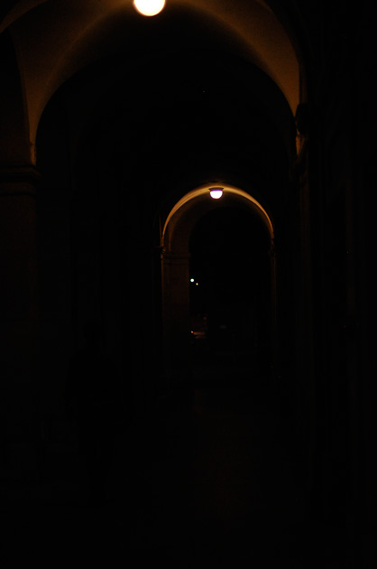 Nachtspaziergang, Laube bei der Nydeggbrücke