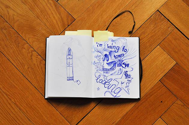 Doppelseite mit zwei freien Illustrationen