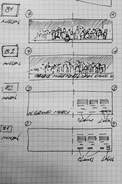 Skizze zu Entwurf B