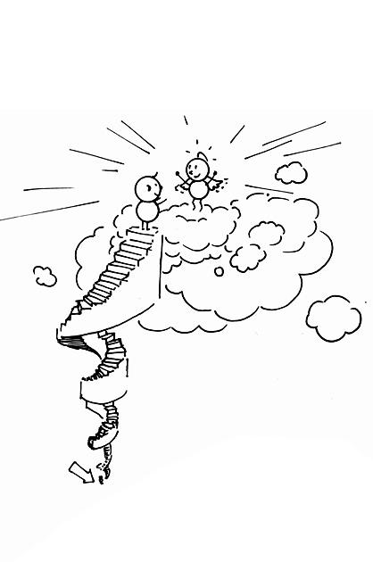 Karl auf der Himmelstreppe