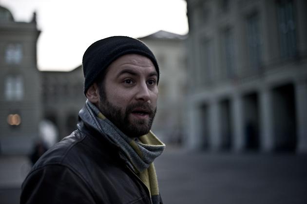 Portrait auf dem Berner Bundesplatz
