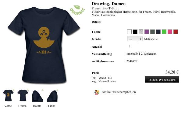 Shirt Drawing, Damen