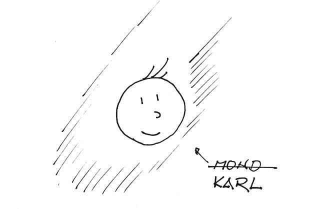Mond als Karl