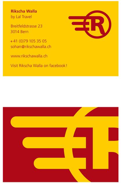 Rikscha-Walla Reinentwurf für die Visitenkarte