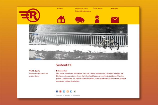 Rikscha-Walla Entwurf für die Homepage