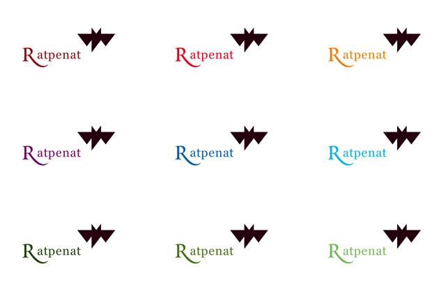 Logo Ratpenat – mit Schriftzug und in verschiedenen Farbvarianten