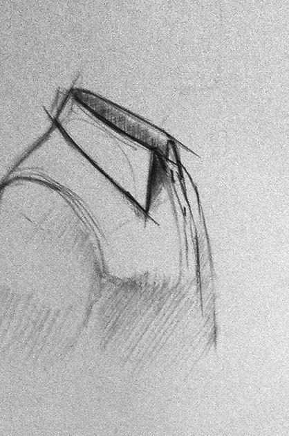 Illustration POS – Vorskizze Hemdkragen