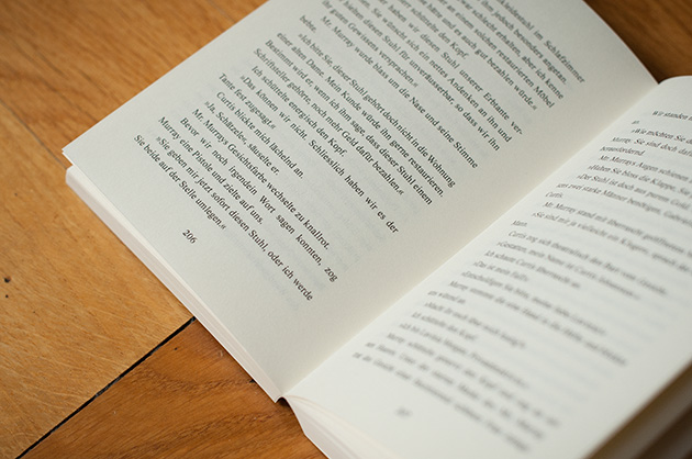 Buchgestaltung – Lavinia Morgan – Doppelseite aus dem Inhalt