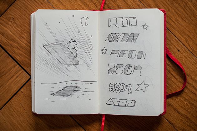 Skizzenbuch – Schriftspiele mit «Aeon»