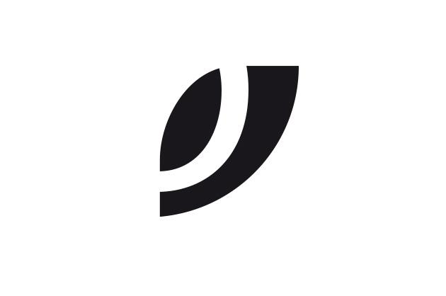 Logo-Entwurf mit eine Blatt und einem angeschnittenen «O»