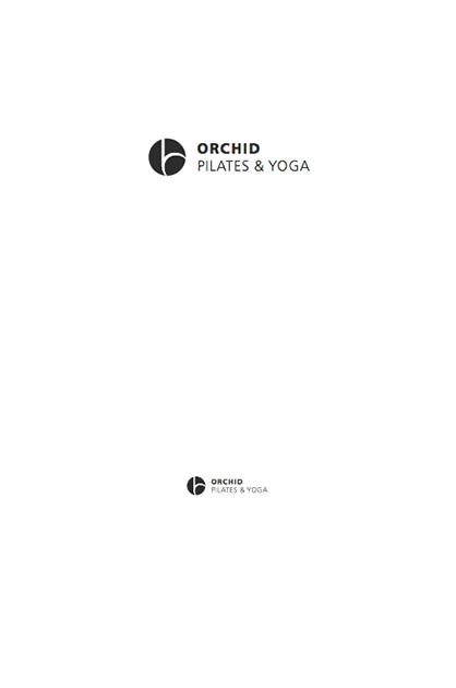 Logo-Design – ORCHID; Anwendung des Logos positiv in Schwarz und Weiss