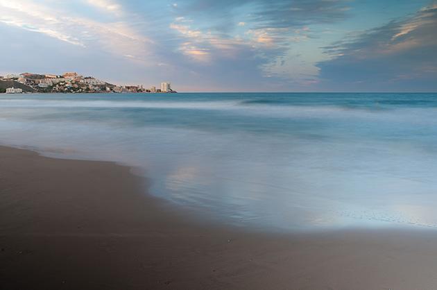 Langzeitbelichtung – Der Strand von Cullera