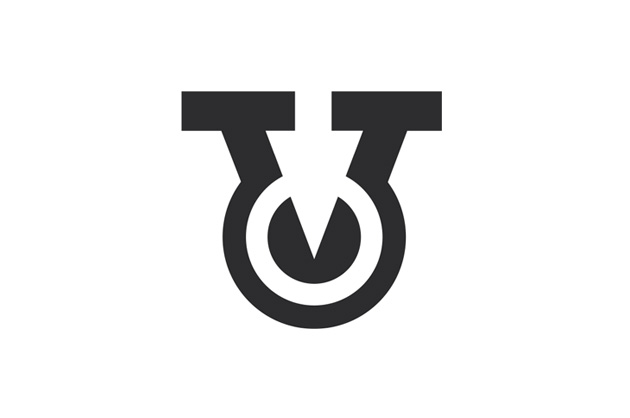 Logo-Vorschlag Nummer drei mit dem V aus Vesnas Namen und einem negativen Pfeil