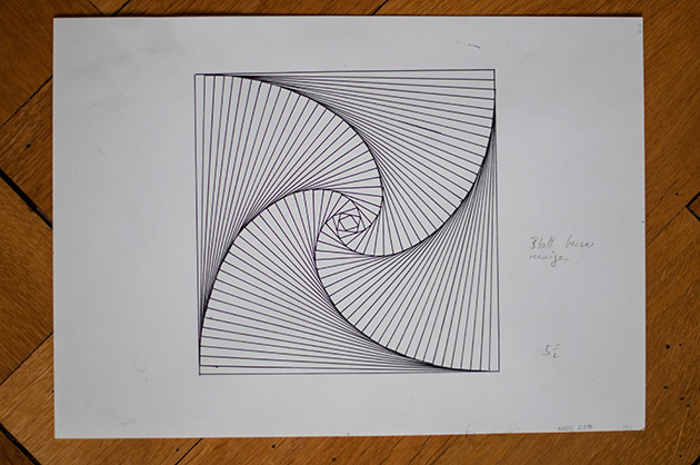 Bild einer technischen Zeichnung, erstellt von einem Kind