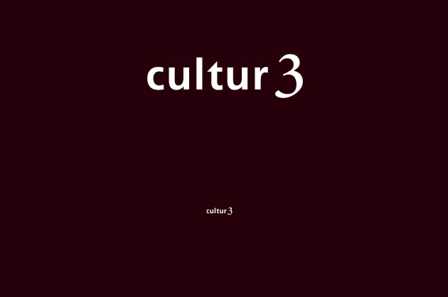 Schriftzug cultur3 – Logo-Design negativ ohne Zusatz